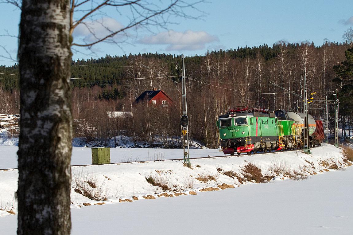 tåg spårade ur ludvika