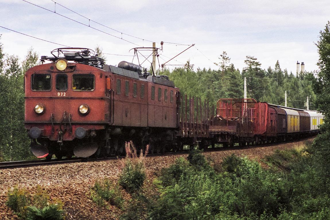 Dm 972-973 utanför Sandviken 1988. Foto Markus Tellerup.