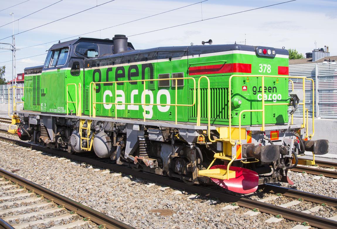 Green Cargo Td 378 i Umeå 2014. Foto Frederik Tellerup.